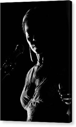 The Blues Singer Canvas Print by Goyo Ambrosio