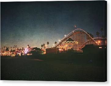 Roller Coaster Canvas Print - The Boardwalk by Laurie Search