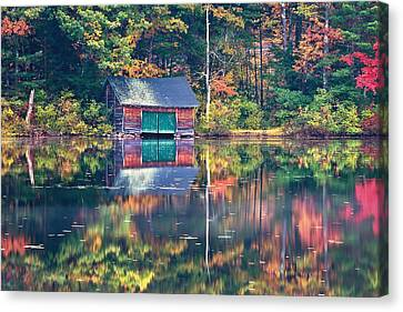 The Boat House Canvas Print by Jeff Sinon