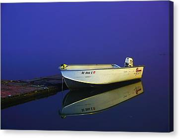 The Boat In The Fog Canvas Print by Metro DC Photography