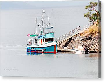 Canvas Print featuring the photograph The Boat by Jim Thompson