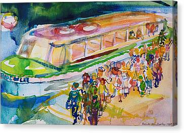The Boat Trip, 1989 Wc On Paper Canvas Print by Brenda Brin Booker