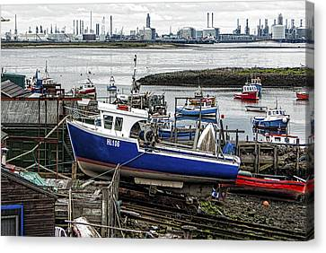 Paddys Hole Canvas Print - The Boat Yard by Trevor Kersley