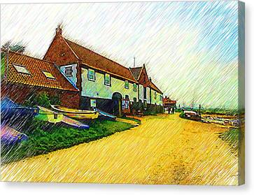 The Boathouse Burnham Overy Staithe Canvas Print by Chris Thaxter