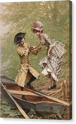 The Boating Party Canvas Print by Frederik Hendrik Kaemmerer