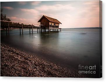 Hannes Cmarits Canvas Print - The Boats House by Hannes Cmarits