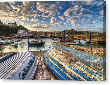 The Boats Of Folkestone Canvas Print by Tim Stanley