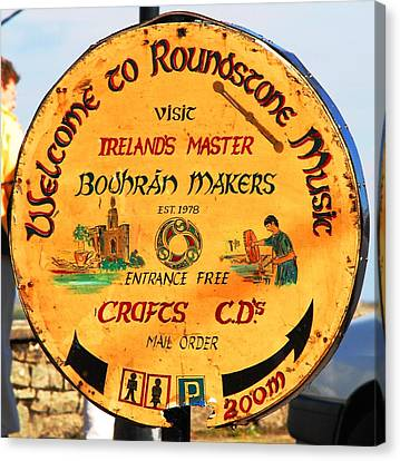 The Bodhran Makers Canvas Print by Charlie and Norma Brock