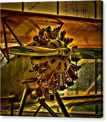 The Boeing Model 100 Biplane Canvas Print by David Patterson