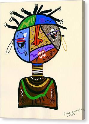 The Bold Face Of Time Canvas Print by Oglafa Ebitari Perrin