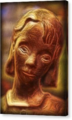 The  Bonaventure Bird Girl - Sadness  Canvas Print