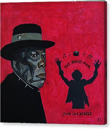 The Boogie Man.john Lee Hooker. Canvas Print