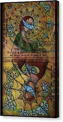 The Book Of Love - Part 1 Canvas Print by Cornelia Tersanszki