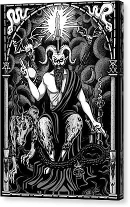 The Boss Blackwhite Canvas Print