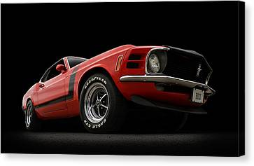 Pony Canvas Print - The Boss by Douglas Pittman