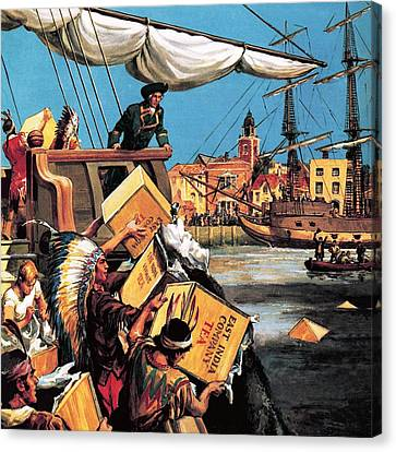 The Boston Tea Party Canvas Print