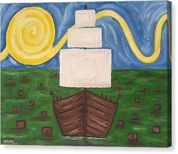 The Boston Tea Party Canvas Print by Patrick J Murphy