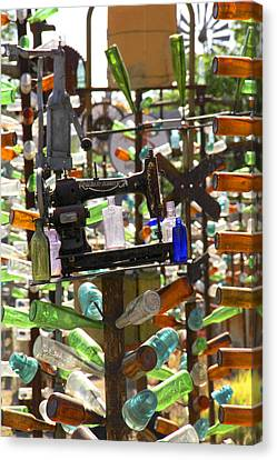 Sewing Machine Canvas Print - The Bottle Tree Ranch by Mike McGlothlen