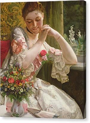 The Bouquet Canvas Print by Albert Raudnitz
