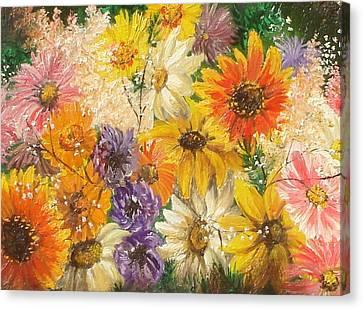The Bouquet Canvas Print by Sorin Apostolescu