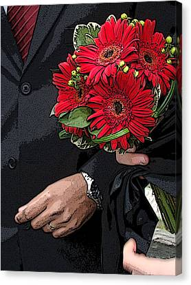 Canvas Print featuring the photograph The Bouquet by Zinvolle Art