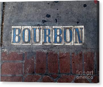 The Bourbon Street Sign Canvas Print by Joseph Baril