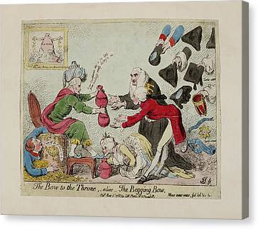 The Bow To The Throne Canvas Print by British Library
