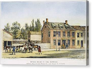 Bowery Canvas Print - The Bowery, New York, 1783 by Granger