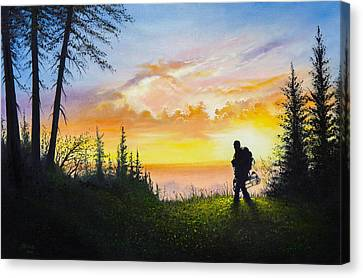 The Bowhunter Canvas Print by C Steele