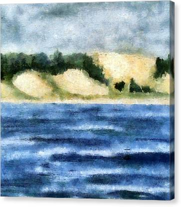The Bowl - Dunes Study Canvas Print by Michelle Calkins