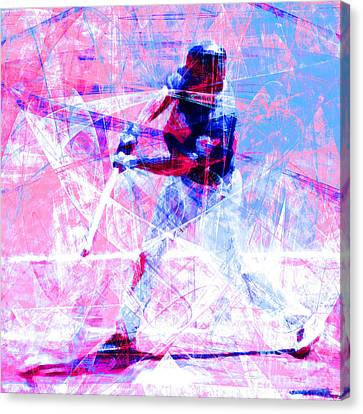 The Boys Of Summer 5d28228 The Batter Square Cool Lbb Canvas Print by Wingsdomain Art and Photography