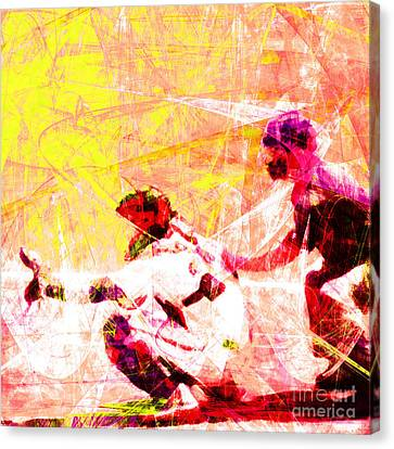 The Boys Of Summer 5d28228 The Catcher Square V2 Canvas Print by Wingsdomain Art and Photography