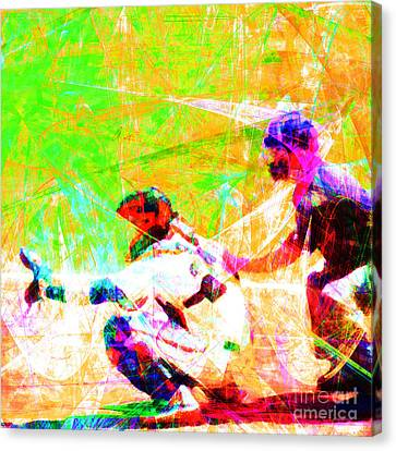 The Boys Of Summer 5d28228 The Catcher Square Canvas Print by Wingsdomain Art and Photography