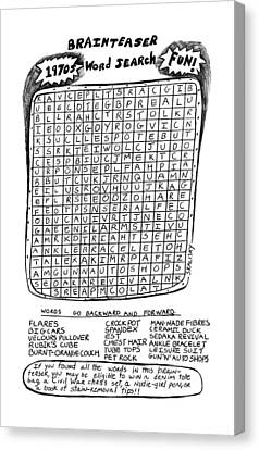 The Brainteaser Word Search Canvas Print by Stephanie Skalisk