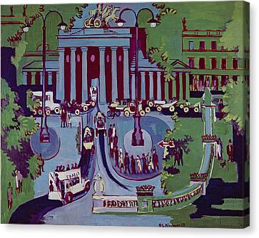 The Brandenburg Gate Berlin Canvas Print by Ernst Ludwig Kirchner