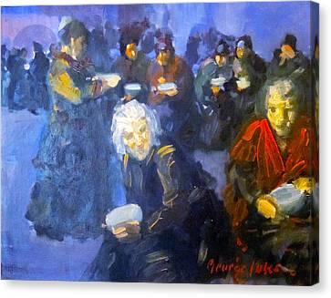 The Bread Line Canvas Print by George Benjamin Luks