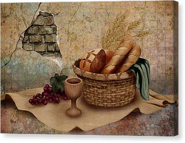 Jesus Canvas Print - The Bread Of Life by April Moen