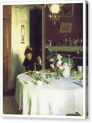 The Breakfast Table Canvas Print by John Singer Sargent