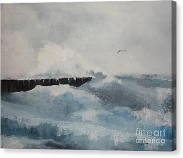 The Breakwater Canvas Print