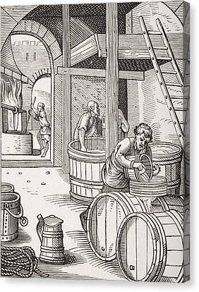 Fermentation Canvas Print - The Brewer by French School