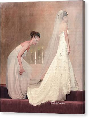 Maid Of Honor Canvas Print - The Bride And Her Maid Of Honor by Angela A Stanton