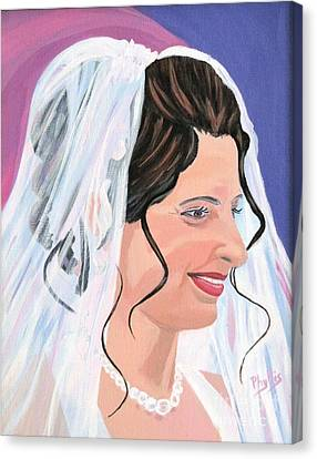 The Bride Canvas Print by Phyllis Kaltenbach