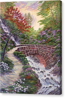 The Bridge Across Canvas Print by David Lloyd Glover