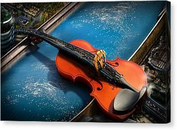 The Bridge Canvas Print by Alessandro Della Pietra
