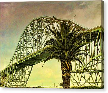 The Bridge As The Sun Breaks Through Canvas Print by Wendy J St Christopher