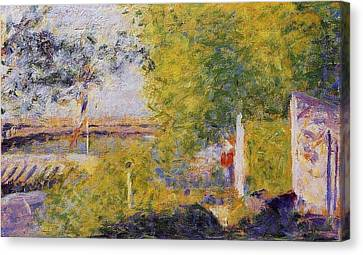 The Bridge At Bineau Canvas Print by Georges Seurat