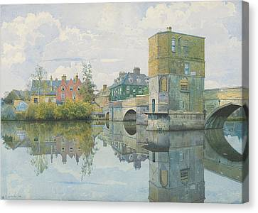 The Bridge At Saint Ives Canvas Print by William Fraser Garden