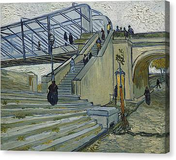 The Bridge At Trinquetaille Canvas Print by Vincent van Gogh