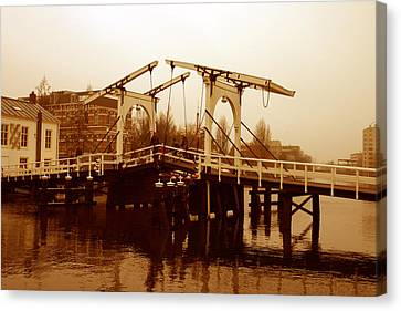 The Bridge Canvas Print by Menachem Ganon