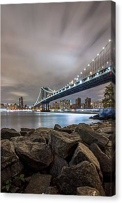 Canvas Print featuring the photograph The Bridge Of 2 Cities by Anthony Fields
